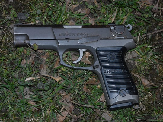 The 9mm handgun that police allege Simmons used.