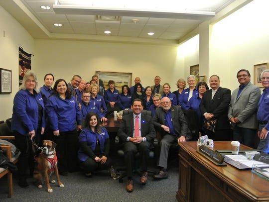 Participants in the Bat Brigade 2018 legislative trip