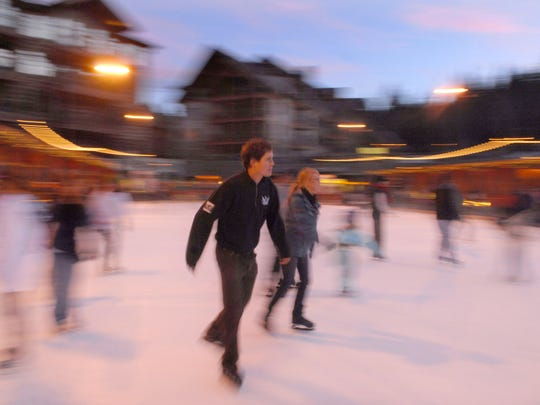 Skaters glide around the rink at Northstar in 2008.