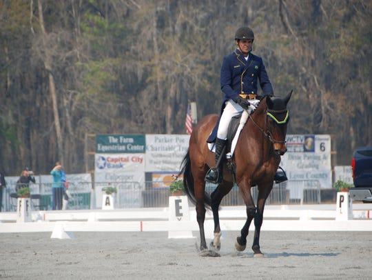 Nilson Moreira da Silva rides Lady Colina during dressage
