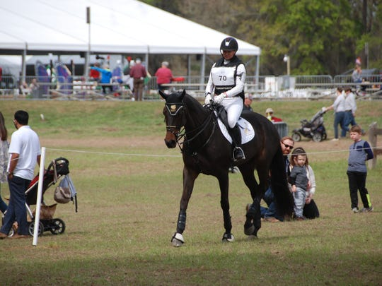 Marilyn Little, a World Equestrian Games hopeful, rides
