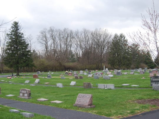 Grave sites at Hopewell Cemetery, shown on April 4,