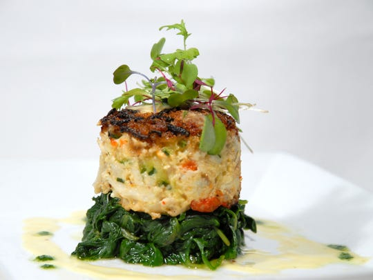 Caffe Aldo Lamberti's popular zucchini crab cake.