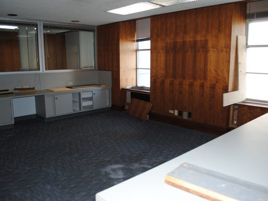In this file photo, office space is seen on the second floor of Big Blue. Dexter Learning, one of the first major tenants of the building previously said they hoped to see the floor converted into offices for small businesses. Dexter announced in February they are leaving Big Blue for another location on Scott Avenue that allows them to double their facility.
