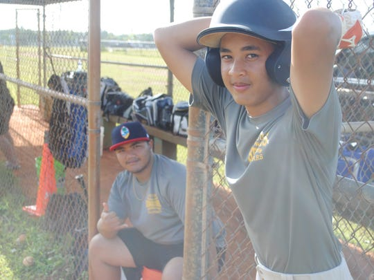 Guam Senior Little League All-Stars at a June 22 practice at the Dededo Sports Complex.