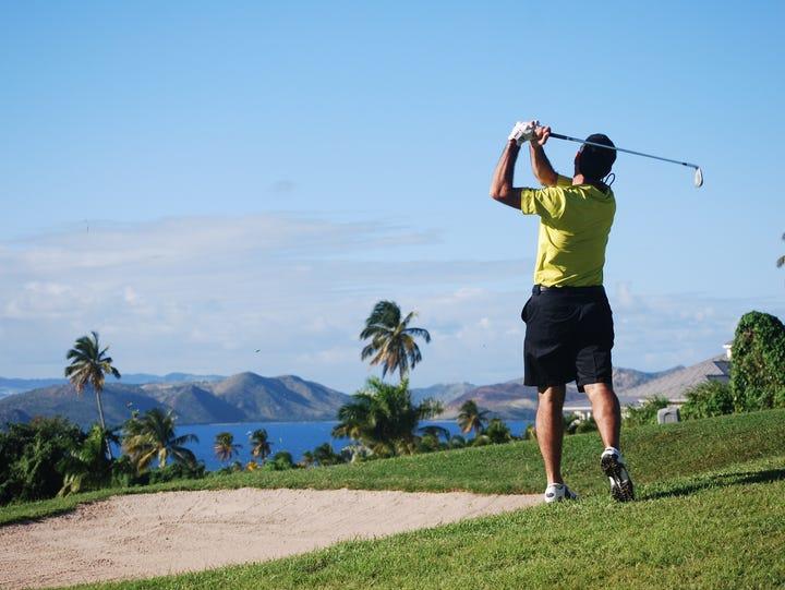 Nevis is home to the Robert Trent Jones II golf course