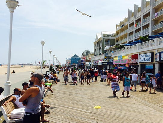 The Ocean City Boardwalk remains busy during the summer