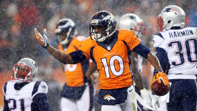 Broncos wide receiver Emmanuel Sanders will be a challenge for the Bengals on Monday night.