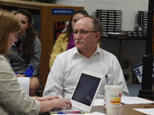 Superintendent Don Sharp attended a special meeting set by the Cotter School Board Thursday, Jan. 14, 2016 in the high school library. Sharp made some suggestions to the board as it began its search for a new superintendent. Sharp announced his retirement  in December 2015.