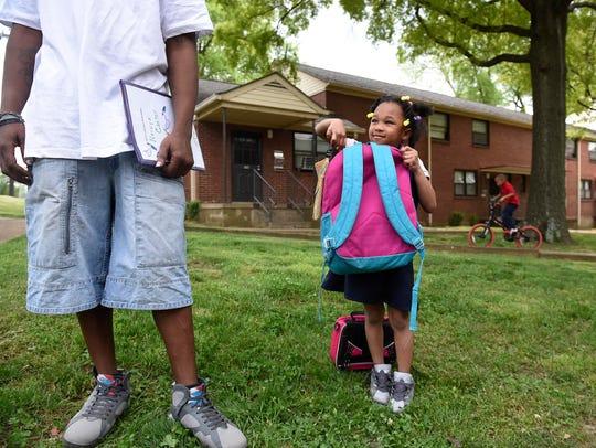 Nate Cox and his 5-year-old daughter Naraiya Cox talk