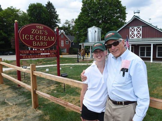 "Kathleen ""Zoe"" and Robert Ferris at Zoe's Ice Cream"