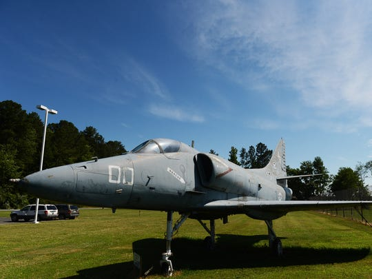 The retired Navy A4-F Skyhawak at the Accomack Airport will get a fresh coat of paint.