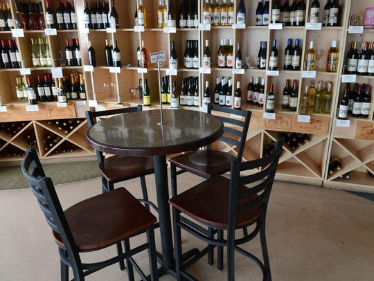 A robust wine selection is offered at Virginia Originals