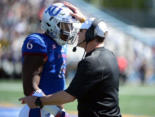 The contract for Kansas coach David Beaty has provisions