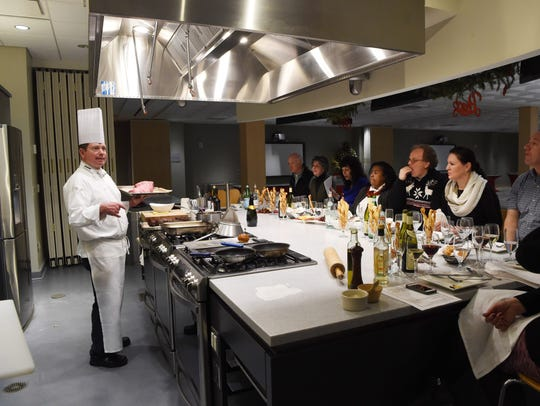 Chef David Bruno, an associate professor at The Culinary