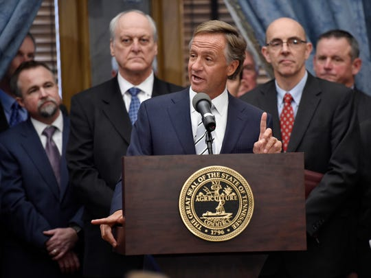 Gov. Bill Haslam announces his plan for a 7-cent gas