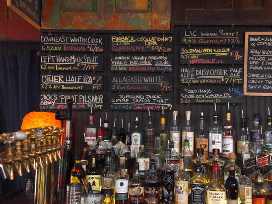 A closer look at the bar at Huckleberry in New Paltz.