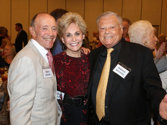 Honoree Jerry and Barbara Keller, and event sponsor