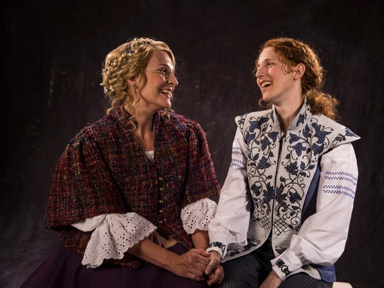 """Susanna Florence plays Celia and Cassandra Bissell plays Rosalind in the Utah Shakespeare Festival's 2017 production of """"As You Like It."""""""