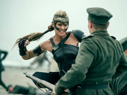"""Robin Wright in a scene from """"Wonder Woman."""""""