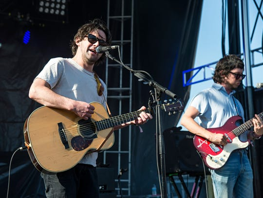 Conor Oberst performs during Forecastle Music Festival
