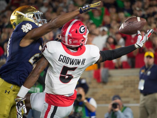 Georgia Bulldogs wide receiver Terry Godwin II (5)