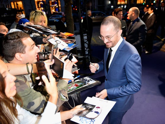 Darren Aronofsky greets fans at the French premiere