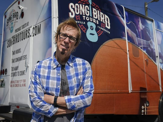 American country music songwriter Trey Bruce poses