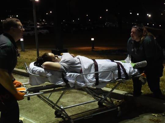 Organized by the Emergency Medical Services Program, students in the nursing, funeral science and emergency medical services programs opted in Wednesday's drill, in an effort to gain hands-on experience. Students practiced critical thinking skills, like taking care of badly injured patients first.
