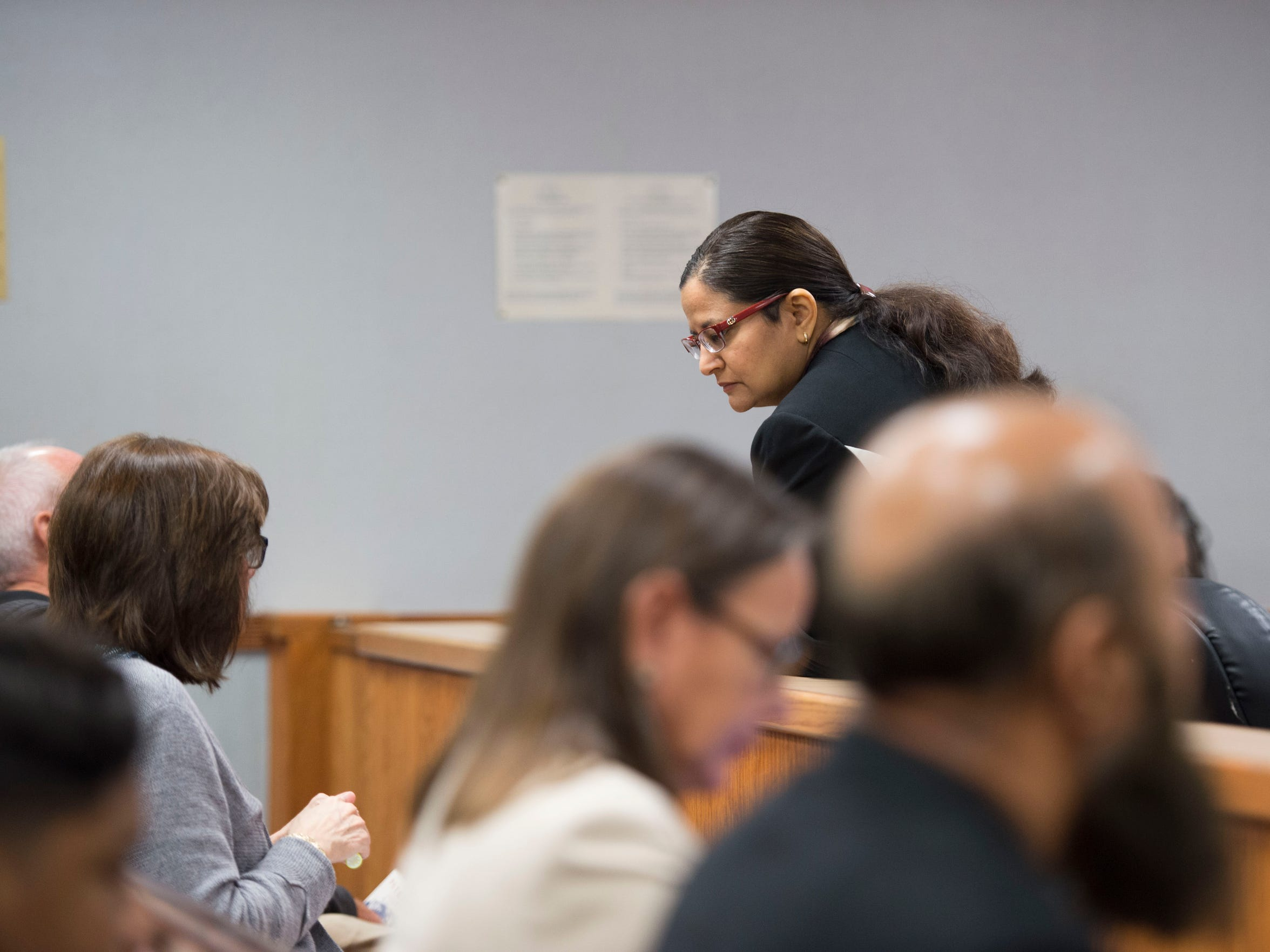 Usha Maharajh, assistant public defender, represented Lanadieal Ashe during her resentencing hearing on Monday, Dec. 18, 2017 at the St. Lucie County Courthouse in Fort Pierce. As a minor, Ashe was convicted and sentenced to life in prison for the 1995 murder of convenience store owner Tariq Hussein, but due to new U.S. Supreme Court rulings, she is allowed a new sentence.