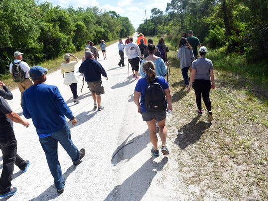"""About 40 people helped form a search party for Assunta """"Susy"""" Tomassi, a St. Lucie County woman who went missing on Friday. Tomassi, who suffers from dementia, was last seen on foot along U.S.1 near Oslo Road. The search on Wednesday, March 21, 2018 was organized by the Indian River County Sheriff's Office."""