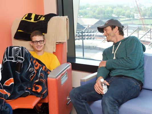 Ashton Kutcher University of Iowa Stead Family Children's Hospital