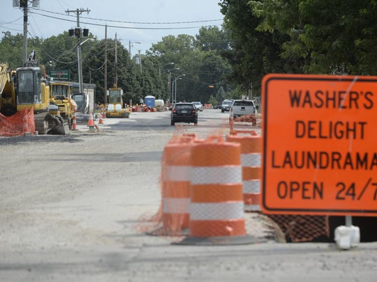 A sewer project has South West and North West 13th