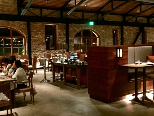 Two Birds/One Stone restaurant occupies an 1890s building at Freemark Abbey, one of the Napa Valley's oldest wineries, in St. Helena, Calif.