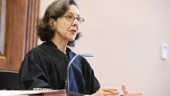 Chancellor Ellen Hobbs Lyle speaks in her courtroom