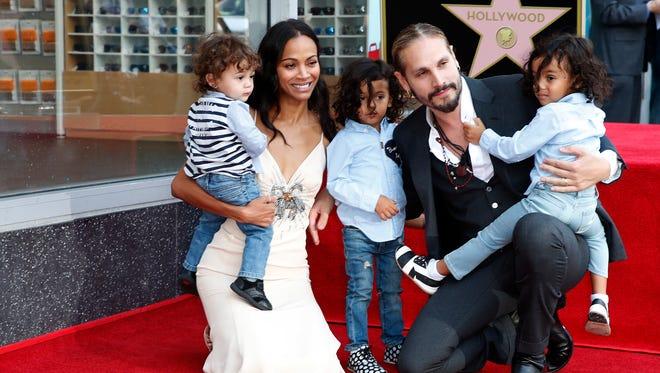 Adorable Alert Zoe Saldana Brings Her Three Toddlers To
