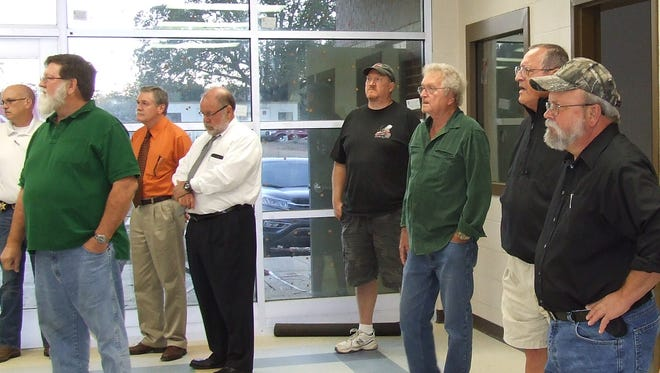 A small group of Stewart County commissioners got a sneak peek at the new detention facility on Cedar Street in Dover.