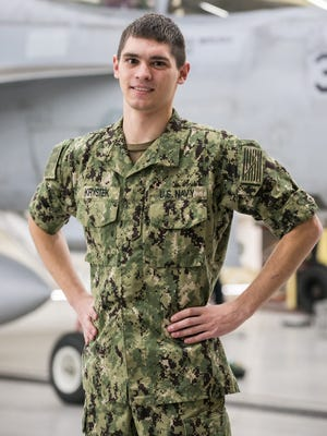 Seaman Joshua Krystek, a 2014 Hunterdon Central Regional High School graduate and Ringoes native, is an information systems technician working with the Strike Fighter Wing Pacific Detachment stationed aboard Naval Air Station Fallon, Nevada.