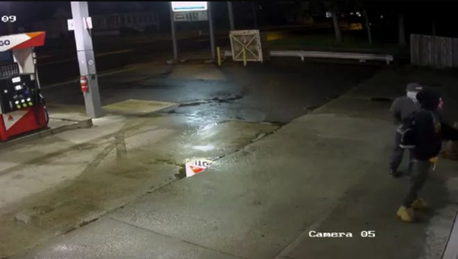 Clayton police seek the public's help to find the suspects in an April 28 robbery at the Citgo gas station on South Delsea Drive.