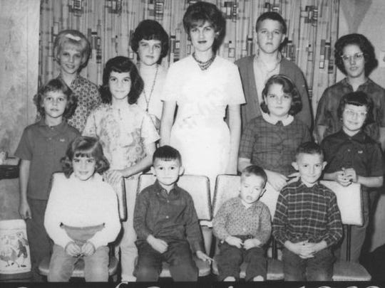 Deanna (rear left) with her cousins in 1961.