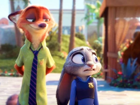 "A scene from the animated Disney film ""Zootopia."""