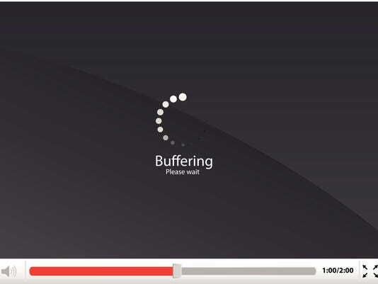 Media player with loading/buffering icon vector illustration