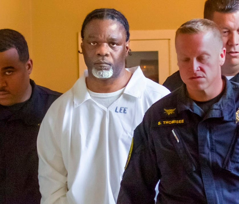 Ledell Lee appears in Pulaski County Circuit Court in Little Rock for a hearing April 18, 2017.