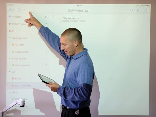 Garrick Grace teaches his C4 (Community, College, Career,