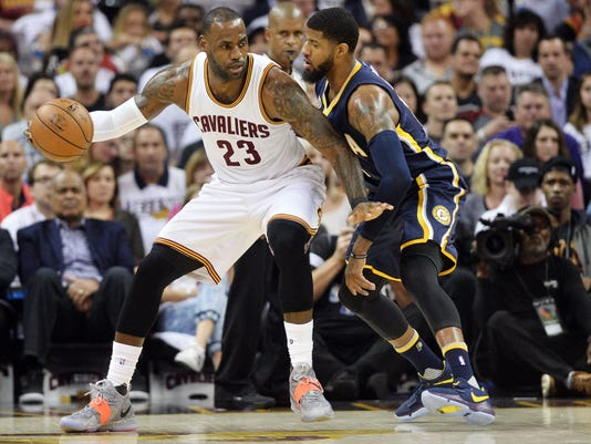 USP NBA: PLAYOFFS-INDIANA PACERS AT CLEVELAND CAVA S BKN CLE IND USA OH