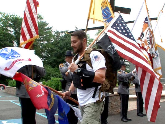 Veteran walks to raise awareness of PTSD