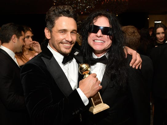 James Franco, left, and Tommy Wiseau attend the 2018