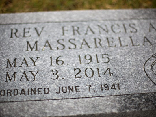Michael helped make funeral arrangements for the Rev. Frank Massarella and ordered his grave stone.
