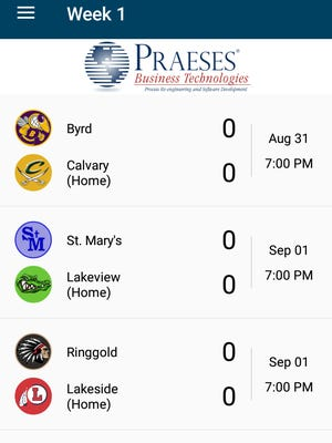 The live scoreboard on The Times' Friday Night Live football app.
