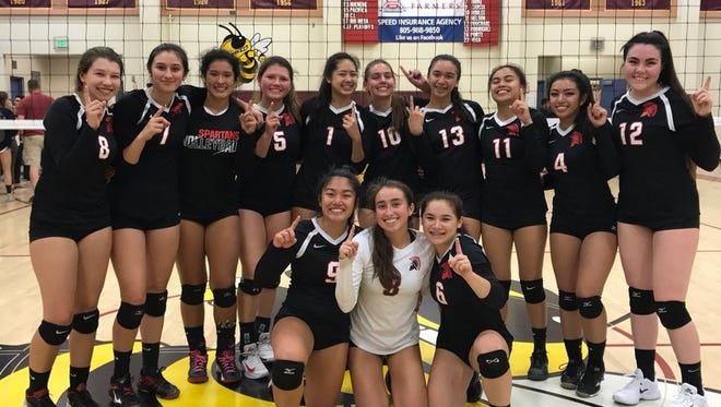 The Rio Mesa girls volleyball program secured the program's first Pacific View League title with a win over Oxnard on Tuesday night.